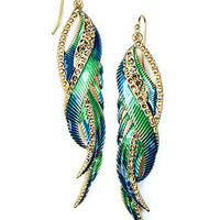 RACHEL Rachel Roy Earrings, Gold-Tone Multicolor Feather Earrings - Fashion Jewelry - Jewelry & Watches - Macy's