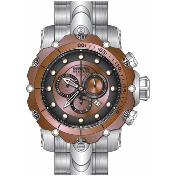 Invicta 14401 Men's Venom Gen. II Chronograph Black & Rose Gold Dial Steel Bracelet Dive Watch