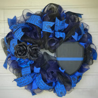 Police Wreath. Support Thin Blue Line.