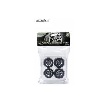 Five Spoke Low Profile Performance Wheels and Tires Set 1/18 by Greenlight