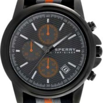 Sperry Top-Sider Halyard Chronograph Watch Gunmetal/Black/Orange, Size One Size  Men's