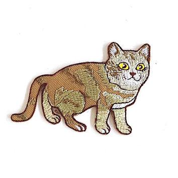Cat Applique Iron on Patch Size 9 x 6 cm