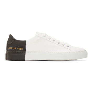 White Canvas Common Project Edition Sneakers