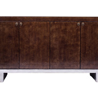 "Madera Home, Tadeas 73"" Sideboard, Gold/Silver, Buffets & Sideboards"