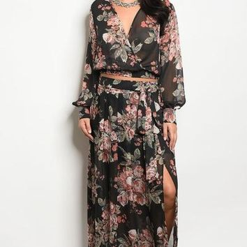 Whitney Floral Top & Skirt Set