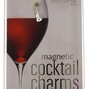 Going Stemless Urban Cowboy Wine Charms Cocktail Magnetic Set 6 Drink Horse Boot