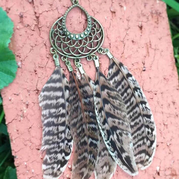 Boho Feather Earrings #H1001