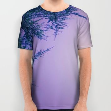 Lavender Skies, Green Trees All Over Print Shirt by DuckyB (Brandi)