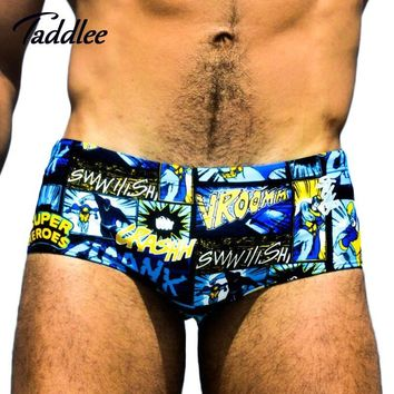 Taddlee Brand Sexy Men Swimwear Swimsuits Swimming Boxer Shorts Trunks New Mens Swim Wear Gay Briefs Bikini Surf Board Shorts