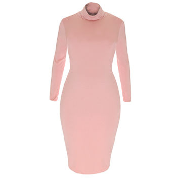 Cowl Neck Midi Dress, Dusty Rose