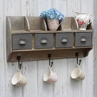 reclaimed wood wall unit with steel drawers