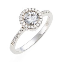 Women's Lafonn 'Lassaire' Round Halo Ring - Silver/ Clear