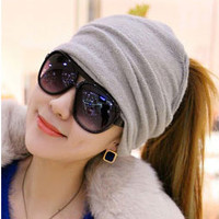 Unique Screw Cross Knitted Wool Hair Band Headband Scarf