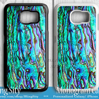 Abalone Shell Galaxy S6 Edge Case, Abalone Texture Samsung S5 Case, Abalone Note 2 3 4 Case S3 Tough Cover BlingSity