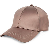 Pink satin cap - hats - accessories - women