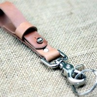 BELT LANYARD IN HORWEEN NATURAL VEGTAN