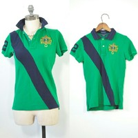 Ralph Lauren Polo | Green + Blue Skinny Polo S/M