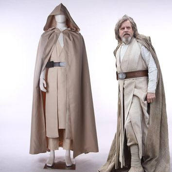Star Wars 8:The Last Jedi Luke SkyWalker Cosplay Costume Halloween Carnival Uniforms Adult Fatastic Outfit Full Set Custom Made