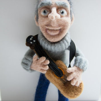 "Soft sculpture, portrait doll ""A man in a prime of life"". Needle felted. 100%wool."