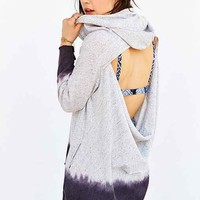 Blue Life Open-Back Hooded Top- Grey