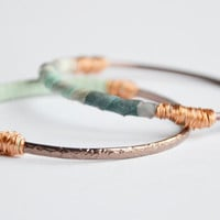 Bronze bangles set of 2 Pastel blue and by RedRhinoProductions