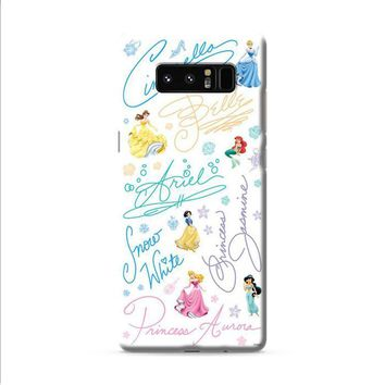 Disney Princess Sign Samsung Galaxy Note 8 case