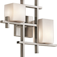"0-023874>16""w City Lights 2-Light Wall Fixture Classic Pewter"