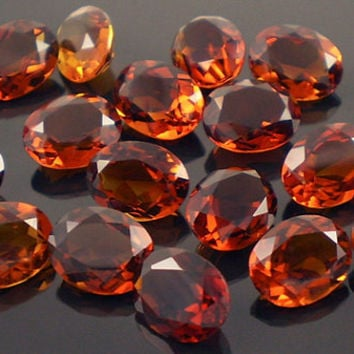 Madeira Citrine: 1.75ct Red Orange Oval Shape Gemstone, Natural Hand Made Faceted Gem, Loose Precious Quartz Mineral, Jewelry Supply 20165