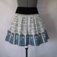 Doctor Who/Police Box Skirt