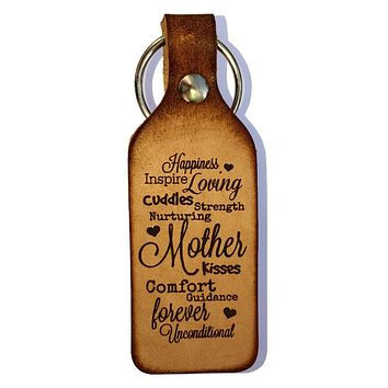 Mother Leather Keychain