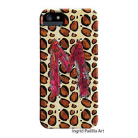 Chic, Animal print, M, Monogramed Phone case, Personalized, Letter M iPhone Case, iPhone 5 case, Galaxy S3, Galaxy S4, by Ingrid Padilla