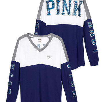 Bling V-neck Varsity Tee - PINK - Victoria's Secret