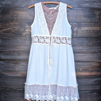 til dawn boho duster in cream