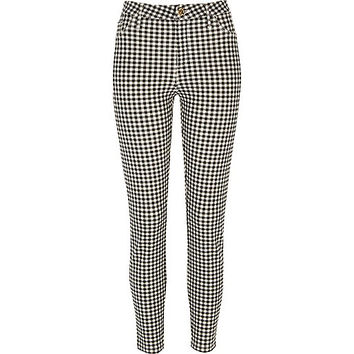 Black gingham Molly jeggings