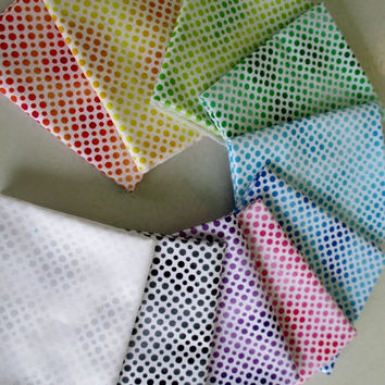 Ombre Dots Charm Pack, Ombre Dots Fabric, Dots, Charm Packs, Polka Dot Fabric, Rainbow Colors, Dots Charm Pack, Ombre Fabric, Quilt Fabric,