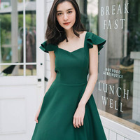 Olivia - Party Dress Prom Dress Forest Green Dress Formal Dress Cocktail Dress Bridal Wedding Sundress Summer Dress Swing Dance Dress