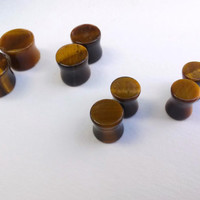 Tiger Eye Stone Plugs 00g 0g 2g 4g Body Jewelry