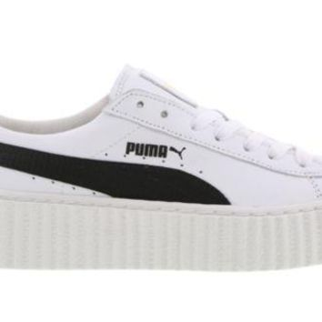 VONE05 PUMA RIHANNA FENTY CREEPERS WHITE BLACK LEATHER (364462 01) WOMEN TRAINERS