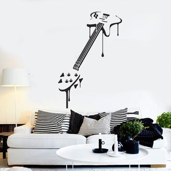 Vinyl Wall Decal Electric Guitar Art Musical Instrument Music Stickers Mural Unique Gift (ig5021)