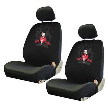 Licensed Official New Betty Boop SkyLine Red Dress Car Truck 2 Front Seat Covers Headrest Covers