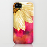 Daisy - Golden on Pink iPhone & iPod Case by micklyn