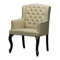 Linen Tuffted Arm Chair