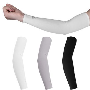 1 Pair UV Protection Cooler Arm Sleeves for Running Bike Hiking Golf Tennis Football Driving Fishing