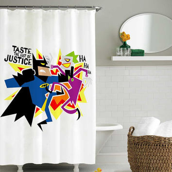 batman vs joker shower curtain,shower curtain size 36x72 48x72 60x72 66x72