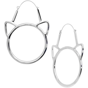 Simple Cut Out Cat Lover Extraordinaire Tunnel Plug Earrings