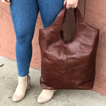 Carrie Leather Hobo Handbag