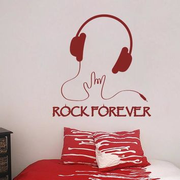 ik809 Wall Decal Sticker headphones bass music artist rock band star teens