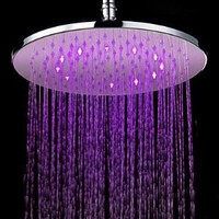 7 Colors Changing LED Contemporary Chrome Shower Faucet Head of 12 inch - Amazon.com