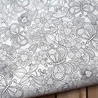 My butterflies and flowers in black and white - juliagrifol - Spoonflower
