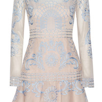 Temperley London - Delphia embroidered tulle and silk-blend organza mini dress